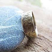 Украшения ручной работы. Ярмарка Мастеров - ручная работа Латунное кольцо с чеканкой.. Handmade.