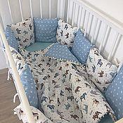 Для дома и интерьера ручной работы. Ярмарка Мастеров - ручная работа Бортики в кроватку. Handmade.