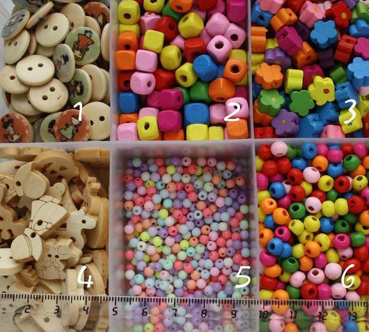 Куклы и игрушки ручной работы. Ярмарка Мастеров - ручная работа. Купить Бусины деревянные разные. Handmade. Комбинированный, бусины