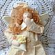 """Куклы Тильды ручной работы. Сонные ангелы """"Нежность"""". Звягина Татьяна. Интернет-магазин Ярмарка Мастеров. Тильда, американский хлопок"""