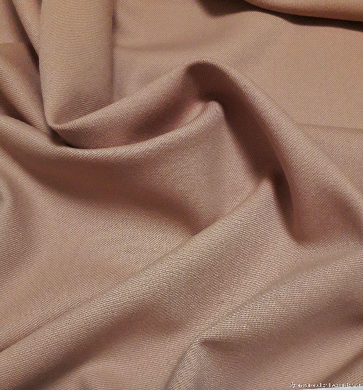 Костюмная шерсть 100%, розово - бежевого цвета, Ткани, Королев,  Фото №1
