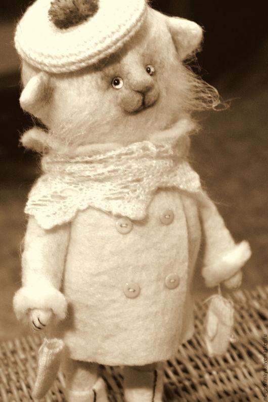Коллекционные куклы ручной работы. Ярмарка Мастеров - ручная работа. Купить Беляночка.. Handmade. Белый, зима, мохер
