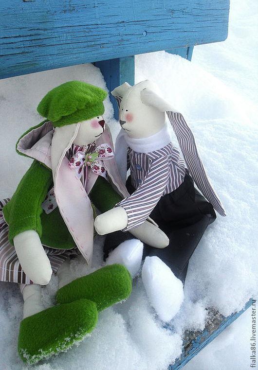Куклы Тильды ручной работы. Ярмарка Мастеров - ручная работа. Купить Кролики Тильда Eivor (Айвор) и Hulda (Хульда) ПРОДАНЫ. Handmade.
