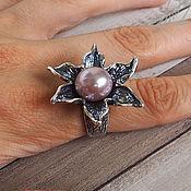 Украшения handmade. Livemaster - original item Ring Jasmine pearls, silver plating 12 micron. Handmade.
