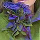 """Пиджаки, жакеты ручной работы. Заказать Жакет """"Violet and olive"""" , валяная одежда, валяние,нунофелтинг. Наталья Швец  (одежда и аксессуары). Ярмарка Мастеров."""