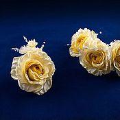 """Цветы и флористика ручной работы. Ярмарка Мастеров - ручная работа Цветы из ткани. Комплект """"Свадьба"""". Handmade."""