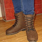 """Обувь ручной работы. Ярмарка Мастеров - ручная работа Валяные ботинки """"Шоколад"""". Handmade."""