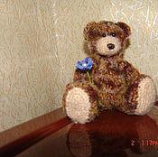 Куклы и игрушки ручной работы. Ярмарка Мастеров - ручная работа Мишка с цветочком. Handmade.