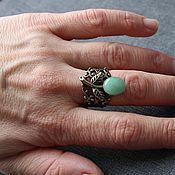 """Украшения ручной работы. Ярмарка Мастеров - ручная работа """"Зеленая ягода"""" кольцо. Handmade."""