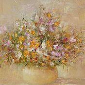 """Картины и панно ручной работы. Ярмарка Мастеров - ручная работа Картина """"Цветы в дымке"""". Handmade."""