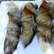 Мех ручной работы. Ярмарка Мастеров - ручная работа Хвосты лисы. Handmade.