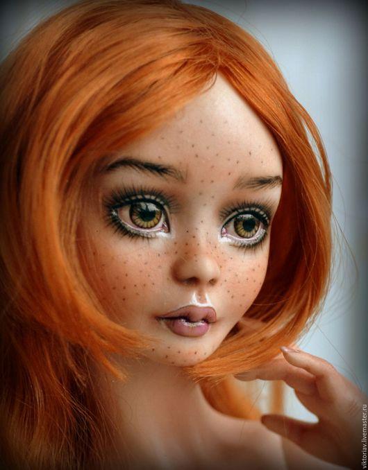 Коллекционные куклы ручной работы. Ярмарка Мастеров - ручная работа. Купить Элизабет фарфоровая шарнирная кукла. Handmade. Рыжий, бжд