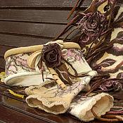 """Аксессуары ручной работы. Ярмарка Мастеров - ручная работа Комплект аксессуаров """" Карамельное притяжение"""". Handmade."""