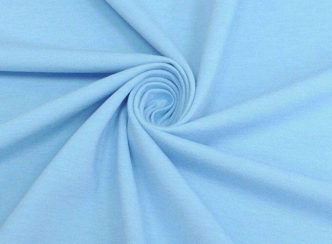 Ткань натуральная трикотаж джерси нежно голубой, Ткани, Москва,  Фото №1