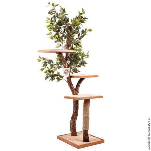 """Аксессуары для кошек, ручной работы. Ярмарка Мастеров - ручная работа. Купить Дерево для кошек """"Paradise"""" 4 уровня. Handmade. Коричневый"""