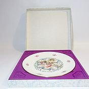 Винтаж handmade. Livemaster - original item Plate decorative Valentine`s Day. Valentine. Handmade.