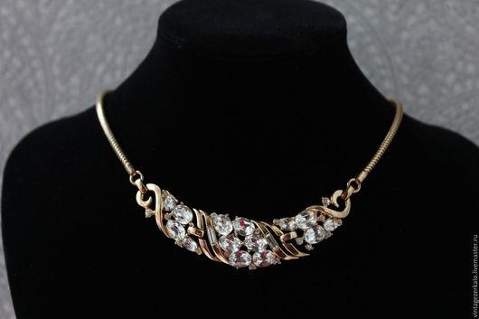 Винтажные украшения. Ярмарка Мастеров - ручная работа. Купить 1953гг Trifari Патентное  Винтажное ожерелье. Handmade. Разноцветный, винтажное ожерелье