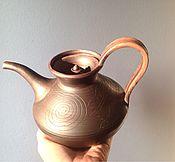 Посуда ручной работы. Ярмарка Мастеров - ручная работа Чайник заварочный глиняный классика.. Handmade.