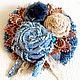 """Броши ручной работы. Ярмарка Мастеров - ручная работа. Купить Броши текстильные  """"Бохо-букетик"""". Handmade. Голубой, брошь из ткани"""