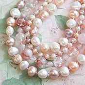 Украшения handmade. Livemaster - original item Pearl quartz necklace in pastel colours (428). Handmade.