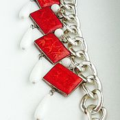Украшения handmade. Livemaster - original item Necklace !Red and White!. Handmade.