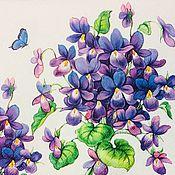 Материалы для творчества handmade. Livemaster - original item 532.  Servilleta para decoupage Violeta.. Handmade.