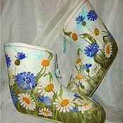 """Обувь ручной работы. Ярмарка Мастеров - ручная работа Валеночки """"Полевые цветики"""". Handmade."""