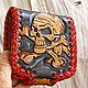 Leather wallet-Merry skull with rum, Wallets, Krasnodar,  Фото №1