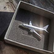 Украшения handmade. Livemaster - original item Brooch Airplane. Different models. Silver. Handmade.