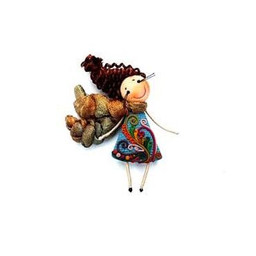 """Украшения ручной работы. Ярмарка Мастеров - ручная работа брошь девочка """"Краски осени"""". Handmade."""