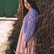 Одежда handmade. Livemaster - original item cardigans: Purple summer cardigan made of large-knit cotton. Handmade.