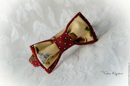 Галстуки, бабочки ручной работы. Ярмарка Мастеров - ручная работа. Купить галстук бабочка детская. Handmade. Бордовый, новогодняя, текстиль