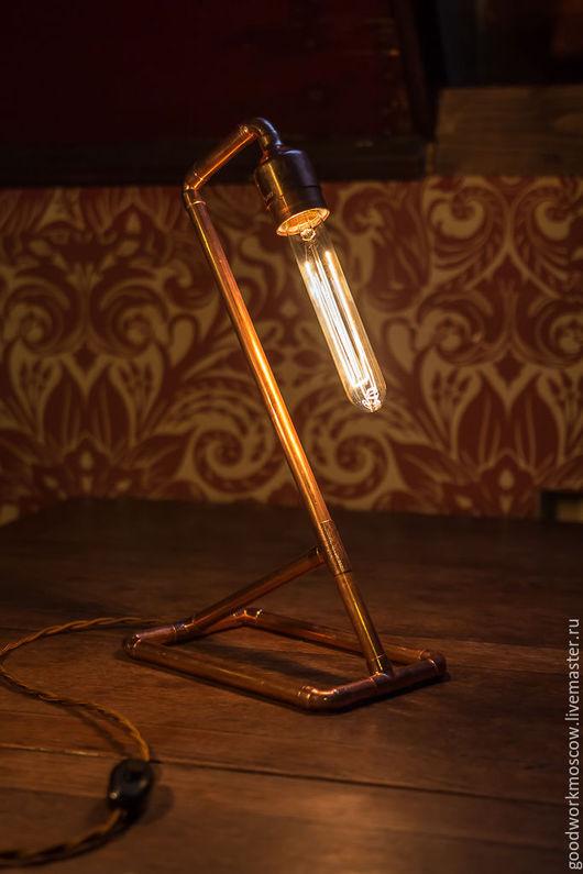 Освещение ручной работы. Ярмарка Мастеров - ручная работа. Купить Светильник COPPER SWAN. Handmade. Медь, лампа эдисона, медь