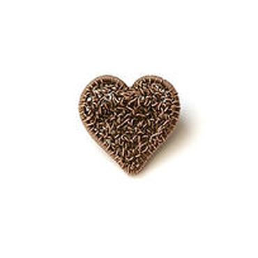 Украшения ручной работы. Ярмарка Мастеров - ручная работа Медная брошь Сердце. Маленькая брошь сердечко, брошь минимализм медь. Handmade.