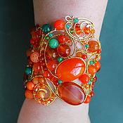 Украшения handmade. Livemaster - original item Carnelian bracelet Noon (option). Handmade.