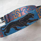 Аксессуары handmade. Livemaster - original item PANTHER leather belt. Handmade.