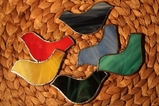 Новый год 2017 ручной работы. Ярмарка Мастеров - ручная работа. Купить ПТАХИ. Handmade. Разноцветный, зеленый, подарок на новый год