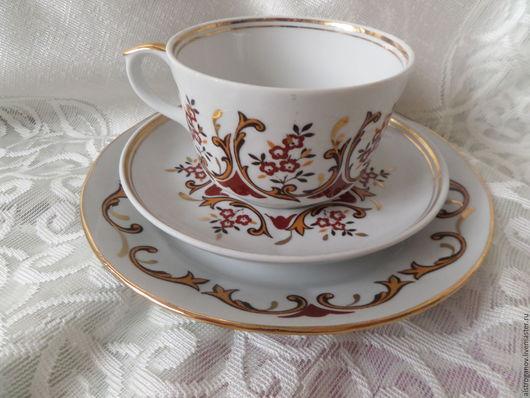 Винтажная посуда. Ярмарка Мастеров - ручная работа. Купить 1970.РИГА.Чайная тройка.. Handmade. Комбинированный, чайная посуда, посуда