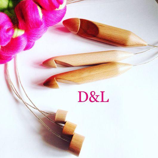 Вязание ручной работы. Ярмарка Мастеров - ручная работа. Купить Тунисский крючок для вязания из дерева 25, 30 мм. Handmade.