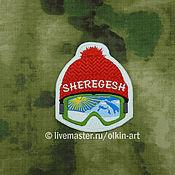 Материалы для творчества handmade. Livemaster - original item patch SHEREGESH - hat (ski resort in the Kemerovo region). Handmade.