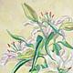 Картины цветов ручной работы. Ярмарка Мастеров - ручная работа. Купить Белые лилии. Handmade. Картина, картина маслом