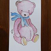 "Открытки handmade. Livemaster - original item Postcard ""Teddy bear"". Handmade."