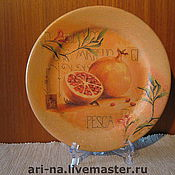 "Посуда ручной работы. Ярмарка Мастеров - ручная работа Тарелка"" Гранат"". Handmade."