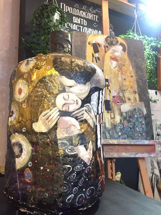 """Вазы ручной работы. Ярмарка Мастеров - ручная работа. Купить Ваза в стиле Гюстава Климта """" Поцелуй"""". Handmade."""