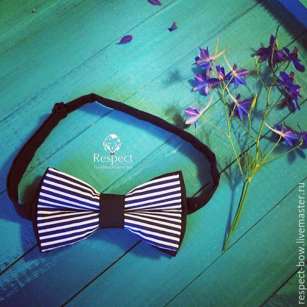 Nautical bow tie with stripes. handmade. Bow tie, bow-tie, bow tie for the groom, bow tie, tie butterfly, buy, men's children's women's bow tie