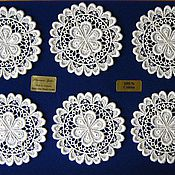 Для дома и интерьера handmade. Livemaster - original item Lace napkins set of glasses for
