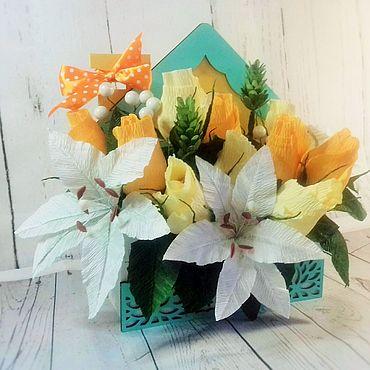 Подарки к праздникам ручной работы. Ярмарка Мастеров - ручная работа Букет из конфет в коробке-конверте. Handmade.