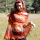 """Шали, палантины ручной работы. Ярмарка Мастеров - ручная работа. Купить Шаль из кауни """"Осенний блюз"""". Handmade. Разноцветный, кауни"""