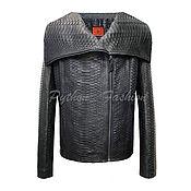 Одежда handmade. Livemaster - original item Jacket leather Python-ENIGMA. Handmade.
