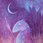 Картины и панно ручной работы. Ярмарка Мастеров - ручная работа В лес за счастьем...Картина-принт на холсте.. Handmade.